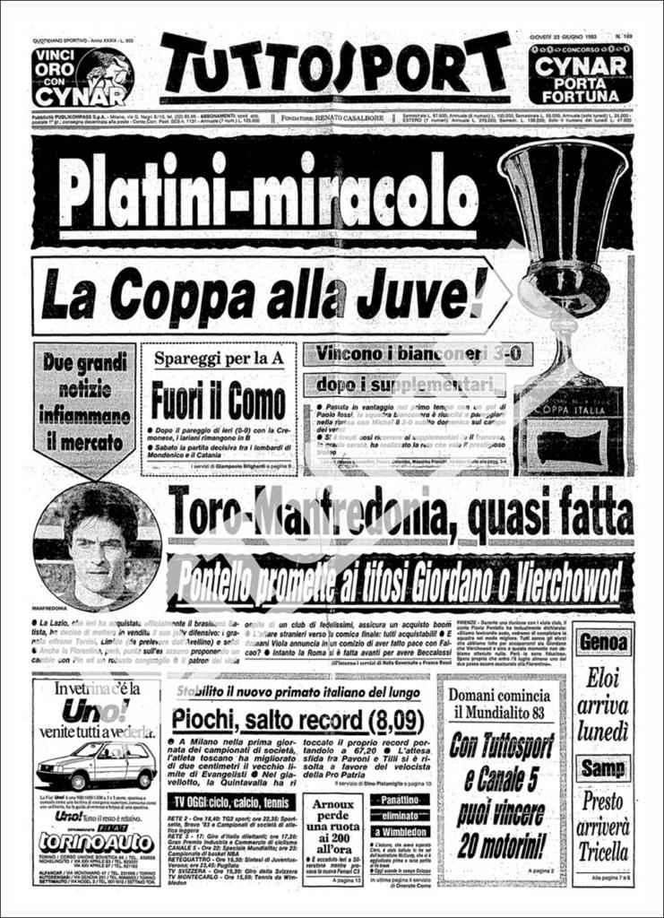 Prima pagina Tuttosport Coppa Italia N.7
